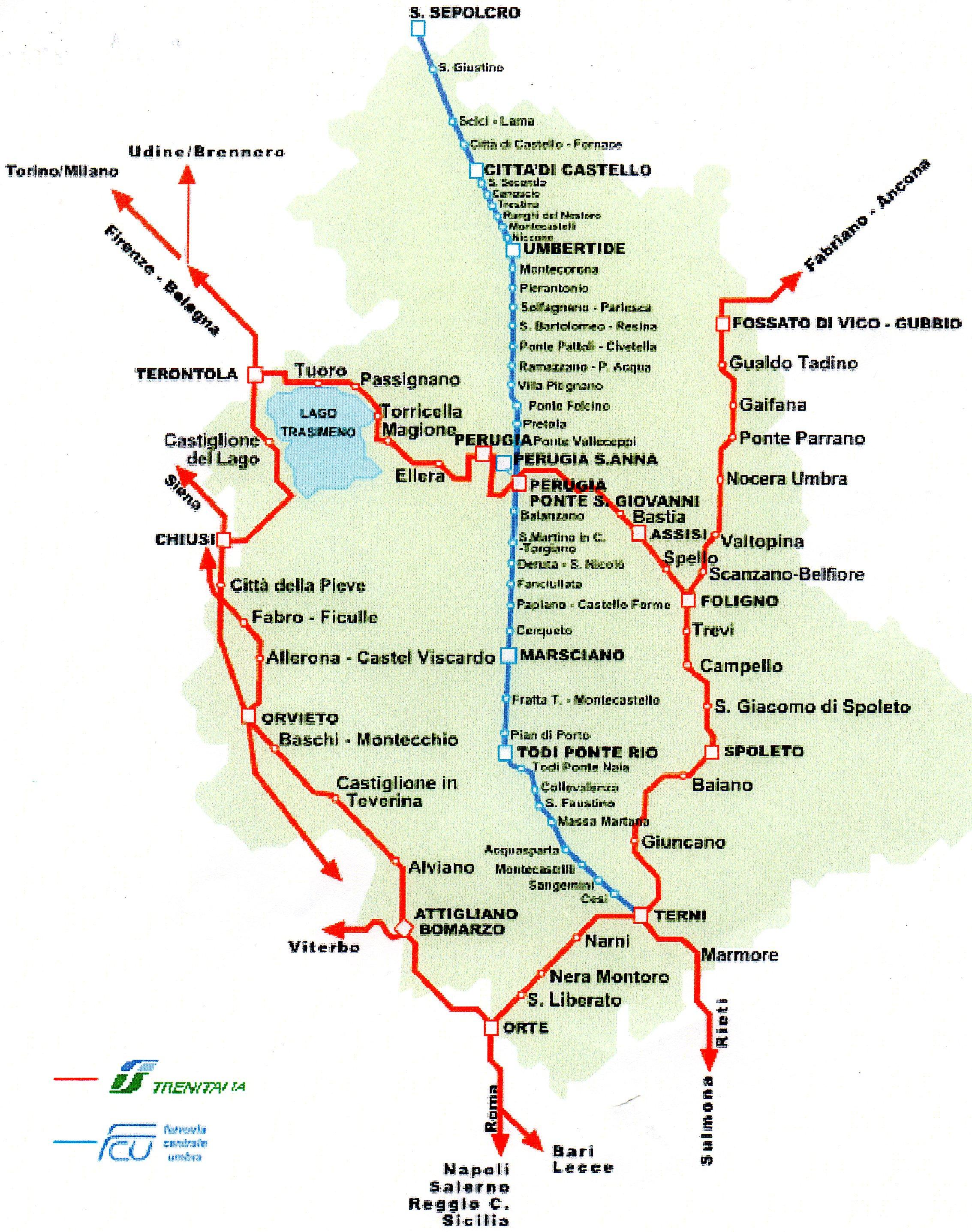 Cartina Ferroviaria Sicilia.Mobilita Umbra Su Linee Ferrate Paolo Moroni
